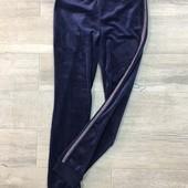 ☘ Стильні та якісні велюрові брюки з лампасами від Tchibo (Німеччина), р.: 158-176, див.заміри