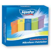 Aquapur Германия Набор 5шт микрофибровых плотных тряпок 30*30см