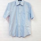 Нежная голубая рубашка в полоску canda ворот 37-38