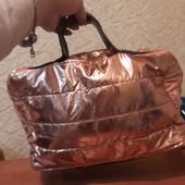 Дутая сумочка розовое золото....забираем