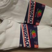 5 пар набор! носки Fruit of the Loom США Оригинал 43/46 размер, цвет: белый