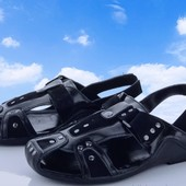 ***Натуральная кожа*** Мужские черные кожаные босоножки-сандалии, размер на выбор, новые