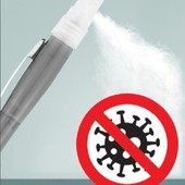 Ручка с ёмкостью и распылителем. 1шт.удобно./можнт заливать антисептик или любимые духи/