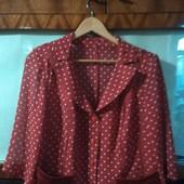 Шифоновый пиджачок, 52-54