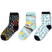 ☘Лот 1 пара☘ Шкарпетки з веселим принтом з біо-бавовни, Tchibo (Німеччина), розміри: 27-30