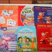 Книги, прописи и карточки для раннего изучения английского детям. Все пособия (6 шт) за 100грн
