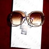 Солнцезащитные очки, UV 400, полупрозрачное капучино, крупные