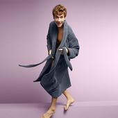 ☘ Добротний махровий халат, унісекс, Tchibo (Німеччина), розмір наш: 52-56 (L євро) БУ