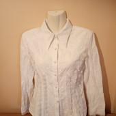 Белая рубашка размер М, в отличном состоянии, 10% скидка на УП