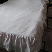 простынь белая с каймой 195х145