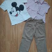 Три речі в лоті (джогери, сорочка, футболка)