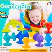 """Конструктор на присосках 8 элементов """"Suction fun"""" 688-8   Конструктор липучки   аналог sibelly  """