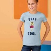 ✔ Хлопковая футболка с пайетками р.134/140 Pepperts Германия ✔