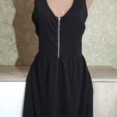 Собираем лоты!!!фактурное платье с молнией, размер L