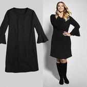 Очень красивое черное платье на весну от Rock your curves размер евро 52-54