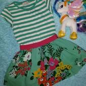 Яркое,сочно фирменное платьице,на девочку 4-5 лет