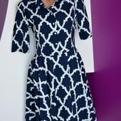 Р.,44 новое! Легкое! шифоновое платье defile lux. турция.супер цена