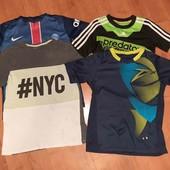 лот 4 брендовые футболки(смотрите фото и описание)