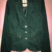 пиджак жакет вельветовый изумрудного цвета Tom Tailor