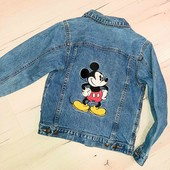 Disney крутая с вышивкой куртка 128-134 см