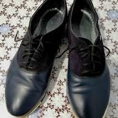 Кожаные туфли, размер 37.