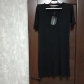 Фирменное новое трикотажное вискозное платье р.34(8-10)
