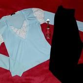 Классная хлопковая кофточка+штаны из вискозы,XS-S