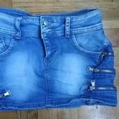 коротенька джинсова спідниця з замочками обманками дуже коротка Красиві лоти. Великий розпродаж.