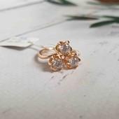 Позолоченное кольцо Трио p.17 позолота 585 пробы 18 карат