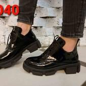 Женские туфли из натуральной кожи и замши