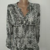 Лёгкая блуза на каждый день М замеры на фото
