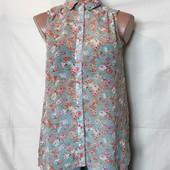 Лёгенькая блузочка с цветочным принтом, грудь-90