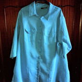 Льняная рубашка-туника 56-58