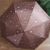 Женский Зонт полу автомат (анти ветер) 2 сложения 8 спиц 3 цвета
