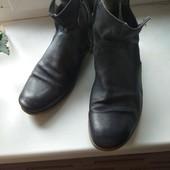 стильные кожаные полусапожки ботинки демисезон, размер 41