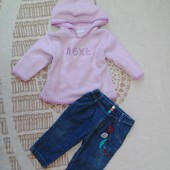 Пакет одежды для девочки на р 74-80 см