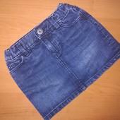 Джинсовая юбка. На 3 года, на рост 100