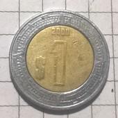 Монета Мексики 1 песо 2000