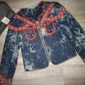 Женская шикарная джинсовая куртка м