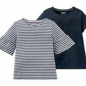 Набор із 2шт футболочок на дівчинку, розмір 110/116, та 98_104, lupilu Геpманія, в упаковці