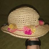 Дитячий соломяний капелюх. Детская соломенная шляпа