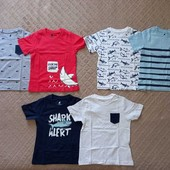 набор футболок 2 шт. р-ры 98-104, 110-116, Лупилу Lupilu, Германия