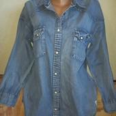 Женская джинсовая рубашка. Размер 48-50