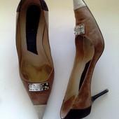 38-39р. Замшевые дизайнерские туфли Les Copains (Италия)