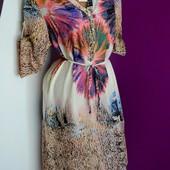 р. 48,50,52,54 новое! легкое! красивенное платье 100% хлопок для пышных леди.