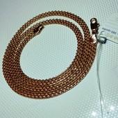 Позолоченная цепь.Длина 50 см*4 мм.Позолота 585 проб