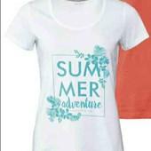 esmara . белая  хлопковая футболка с принтом L44/46+6