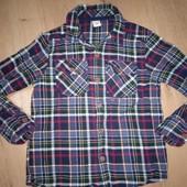 Фланелевая рубашка 4-5лет замеры на фото