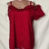 Кружевная блузочка на подкладке. Размер XXL,2xxl