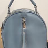 Стильная сумочка-рюкзак натуральная кожа Alex Rai